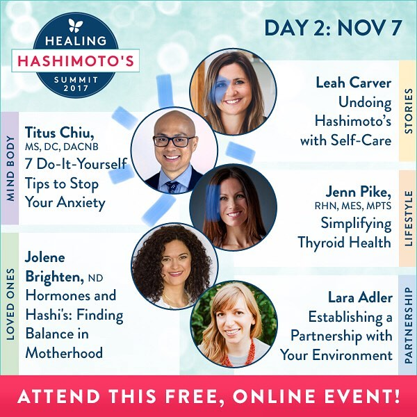 DAY 2 is DR CHIU Today @drnatashaf interviewed @DrTitusChiu on the MINDBODY track! . We get hands-on  showing you 7 DIY WAYS TO STOP ANXIETY! Plus our friend @drjolenebrighten is rocking Hashis and Hormones. Learn with me today online for free…link in my profile. . . . #healinghashimotos #hashimotos #autoimmune #thyroid #autoimmuneprotocol #guthealth #brainhealth #gfdf #paleo #aip #diy #brainhacks #documentary #chronicdisease #chronicillness #hsp #sensitive #intuitive #chiropractic #nutrition #functionalmedicine #functionalneurology #homeopathy #KANARILife #CelebrateTheSensitive #TheModernBrain #helloKOBA #DrTitusChiu #DrNatashaFallahi #DrNatashaF