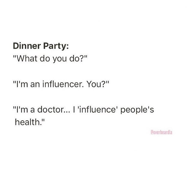 🥂Cheers to my doctor friends, my influencer friends and my doctor-influencer friends. I support you making positive change in the world WHILE designing the life you want to live! 🏽⚕️🏽⚕️🏽🏽🏽🏽🏽🏽🏽🏽 Do you love your life? If not, what's stopping you from trying something different?!?! . . . . . . Via @overheardla Dinner Party. Los Feeeeeeeliz. ♂️⚕️Overheard by Anonymous . . . #influencer #doctor #healinghashimotos #hashimotos #autoimmune #thyroid #autoimmuneprotocol #guthealth #brainhealth #glutenfree #dairyfree #gfdf #paleo #aip #chronicdisease #chronicillness #hsp #introvert #sensitive #intuitive #mindbody #chiropractic #animalchiropractic #nutrition #functionalmedicine #homeopathy #creativechiropractor #DrNatashaFallahi #DrTitusChiu #DrNatashaF