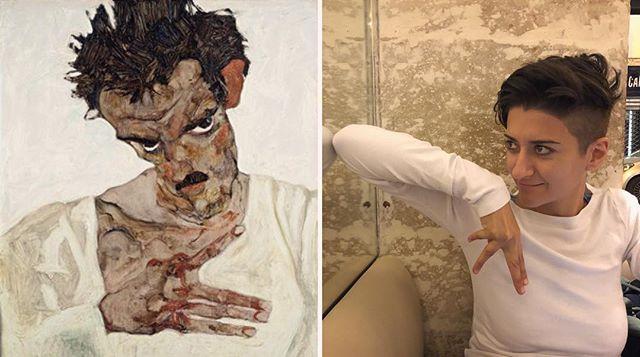 Channeling my best Schiele. . . . . . . #art #painting #paris #france #egonschiele #doppleganger #twins #artidol #paint #travel #secession #viennesemodernism #klimt #schiele #design #adventure #persian #chinese #paleo #autoimmune #aip #healing #chiropractic #nutrition #homeopathy #mindbody #DrTitusChiu #DrNatashaFallahi #DrNatashaF