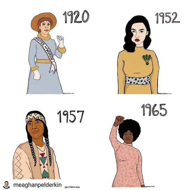 Happy Voting Day! Did you realize that while white women have had the right to vote since 1920, Asian-American women could not vote until 1952, Native American women were not guaranteed the right to vote in all 50 states until 1957, and the majority of black women did not have the right to vote until 1965?!? Please do not take your right to vote for granted and make your voices heard today at the polls ️ #electionday #electionday2018 #vote #rockthevote #womenssuffrage #powertothepolls #grabthembytheballot #badasswomen #votingrights #midtermelections #ballots #polls #suffragette #ivoted #ivotedsticker #Repost @meaghanpelderkin via @dr.doula.mari