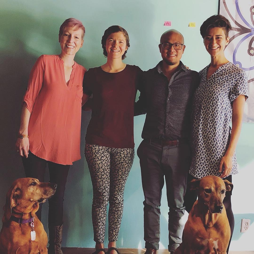 @drtituschiu and @drnatashaf with Maisha, Jenna, Ethel and Koba! . A world-class integrative neurology practice needs a world-class team  . I feel so blessed and grateful to be surrounded by such an amazing group of talented and wonderful people ️ . Happy Monday from the KOBA family! . . . #BrainSAVE #concussion #braininjury #tbi #hopeforhealing #powerofcommunity #postconcussionsyndrome #rootcauseneurology #trauma #paleo #keto #ketogenicdiet #foodasmedicine #brainhacks #biohacking #neuroplasticity #gutbrainaxis #microbiome #brainhealth #brokenbrain #functionalneurology #functionalmedicine #neurology #nutrition #drtituschiu #drnatashaf #KOBA #themodernbrain