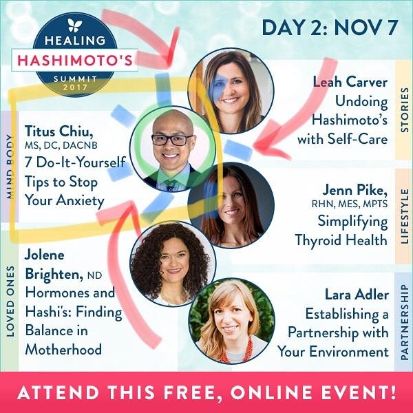 DAY 2 is DR CHIU Today @drnatashaf interviewed @DrTitusChiu on the MINDBODY track! . We get hands-on  showing you 7 DIY WAYS TO STOP ANXIETY! Plus our friend @drjolenebrighten is rocking Hashis and Hormones. Learn with me today online for free…link in my profile. . . . #healinghashimotos #hashimotos #autoimmune #thyroid #autoimmuneprotocol #guthealth #brainhealth #gfdf #paleo #aip #diy #brainhacks #documentary #chronicdisease #chronicillness #hsp #sensitive #intuitive #chiropractic #nutrition #functionalmedicine #functionalneurology #homeopathy #KANARILife #CelebrateTheSensitive #TheModernBrain #helloKOBA #DrTitusChiu #DrNatashaFallahi #DrNatashaF
